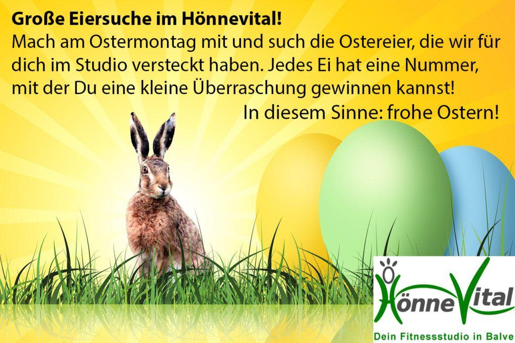 Ostern 2015: große Eiersuche im HönneVital