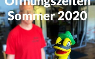 Änderung Öffnungszeiten Sommer 2020
