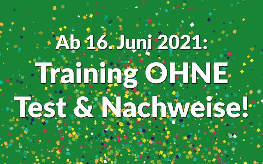 Ab dem 16. Juni 2021: Training im HönneVital OHNE Corona-Test & Nachweise!